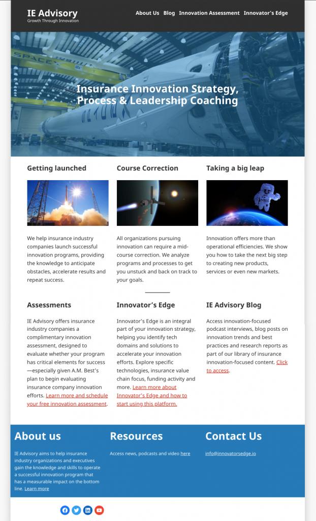 IE Advisory home page