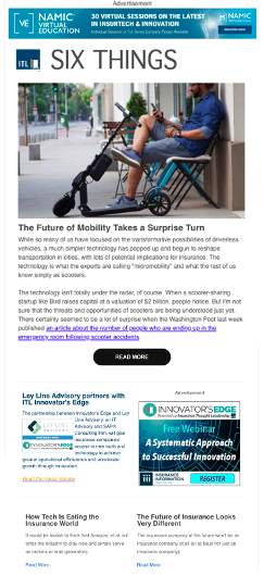 Six Things newsletter