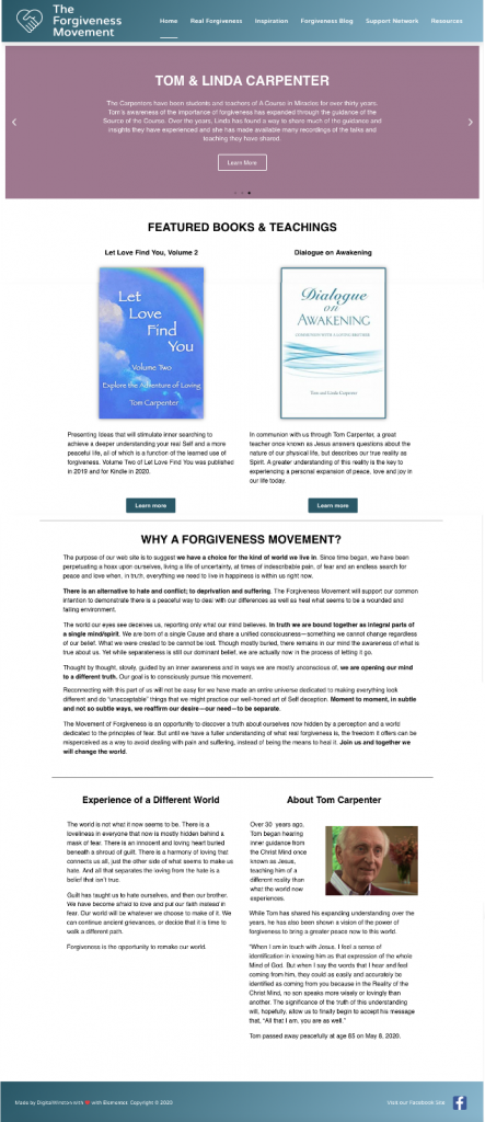 Forgiveness Movement home page